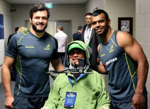 With Wallabies Adam Ashley Cooper and Kurtley Beale